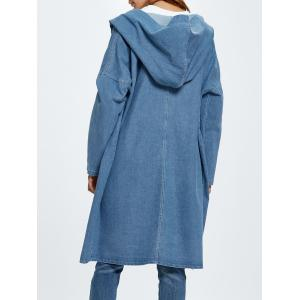 Hooded Jean Coat - CLOUDY ONE SIZE