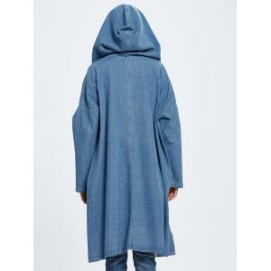 Hooded Jean Coat -
