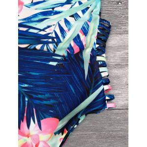 Cami Tropical Print Cut Out One-Piece Swimwear -