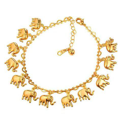 Cute Solid Color Elephant Anklet для женщин