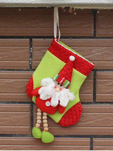 Shop Merry Christmas Decoration Santa Claus Hanging Present Sock - RED  Mobile