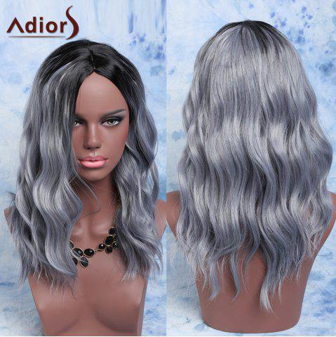 Affordable Adiors Mixed Color Synthetic Fluffy Medium Wave Centre Parting Wig COLORMIX