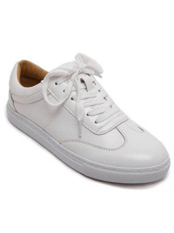 Outfit Leisure Tie Up and White Design Athletic Shoes For Women