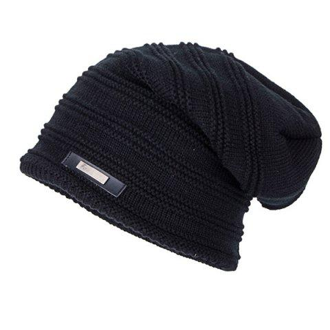 Shop Horizontal Stripe Label Knitted Ski Hat