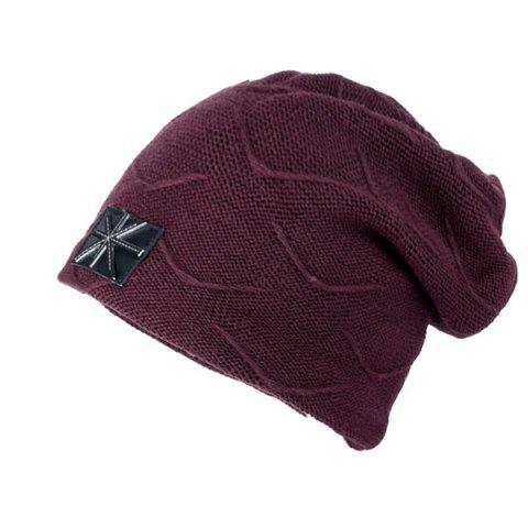 British Flag Patch Knit Beanie