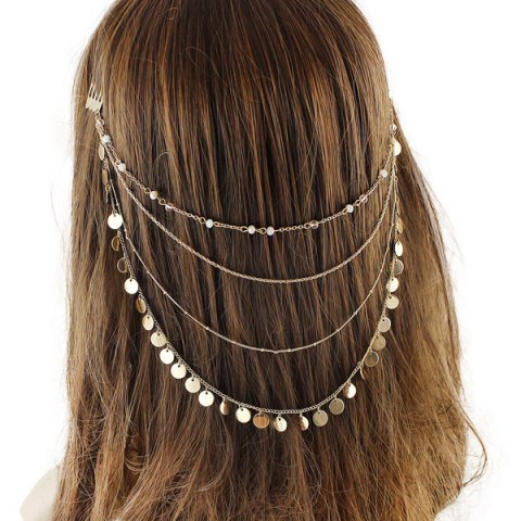Outfit Discs Tassel Layered Head Chain