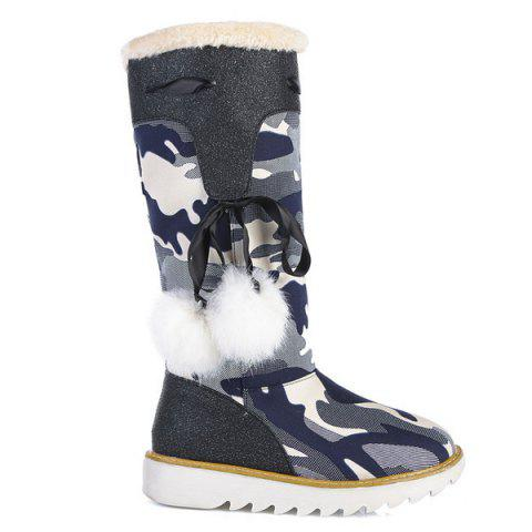Best Camouflage Pattern Pompon Snow Boots