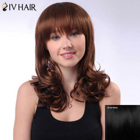 Cheap Long Layered Full Bang Shaggy Wavy Siv Human Hair Wig