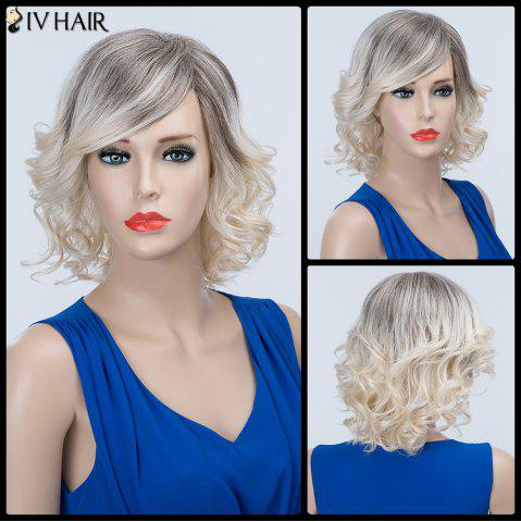Latest Short Curly Oblique Bang Fluffy Siv Human Hair Wig