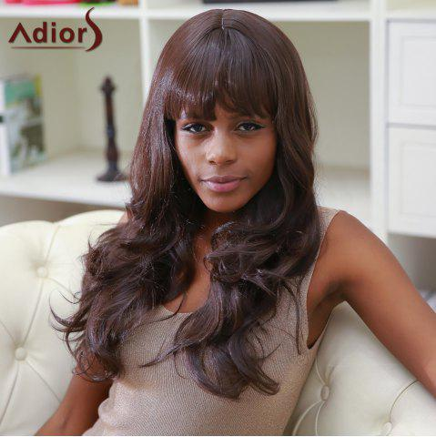 Unique Adiors Full Bang Color Mixed Long Fluffy Wavy Synthetic Wig
