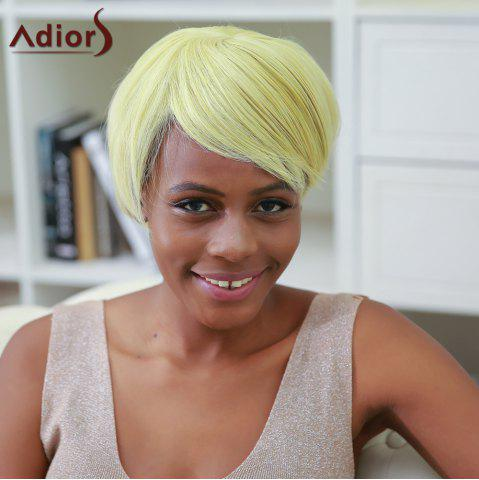 Outfit Side Bang Color Mixed Short Straight Synthetic Wig
