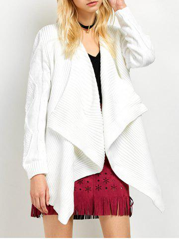 Chic Basket Weave Cable Knit Cardigan
