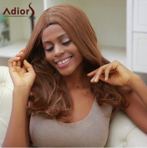 Shop Adiors Long Middle Part Slightly Curled Synthetic Capless Wig BLACK BROWN