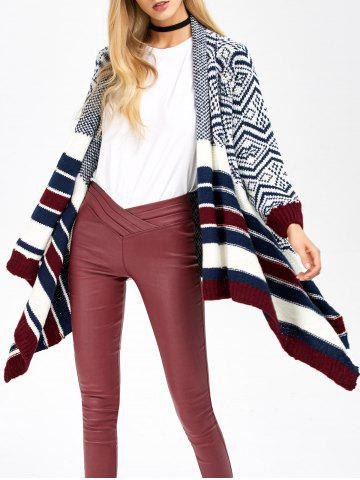 Outfits Striped Trim Knit Cardigan