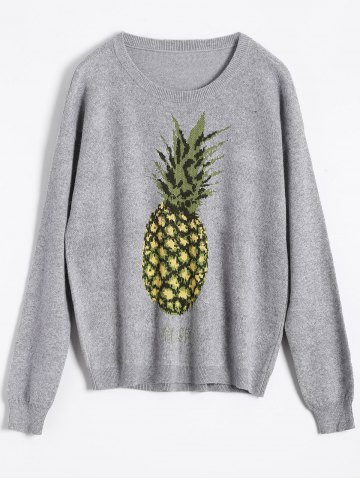 Store Pineapple Jacquard Knit Sweater
