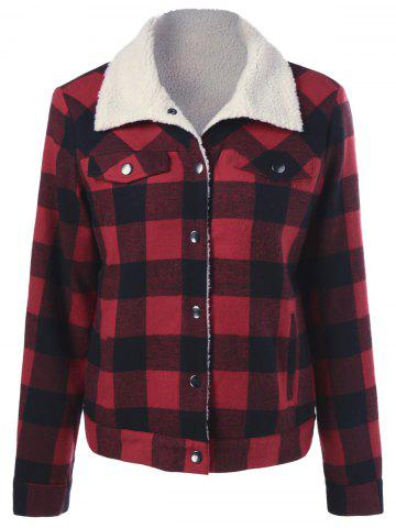 Store Fleece Plaid Shirt Jacket