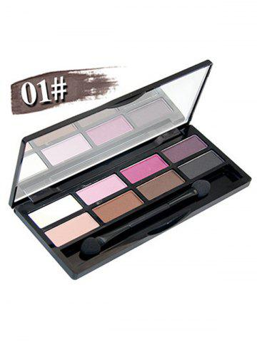 Outfit 8 Colours Shimmer Matte Eyeshadow Kit