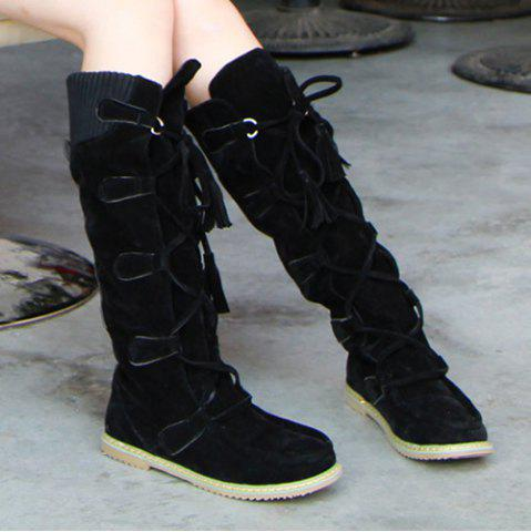 Outfit Tassels Suede Mid Calf Boots