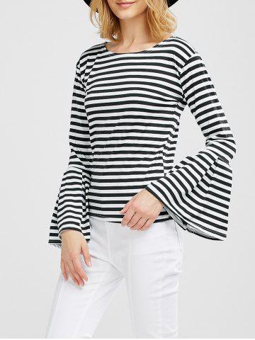 Online Bell Sleeve Striped Tee