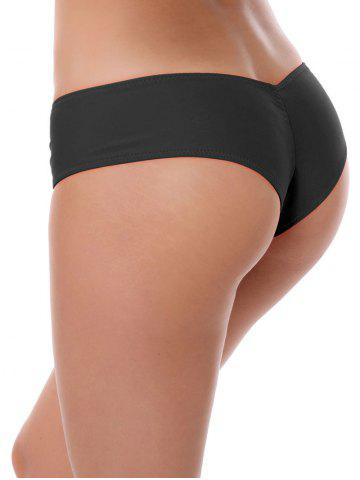 Outfit Low Waist Stretchy Panties - BLACK L Mobile