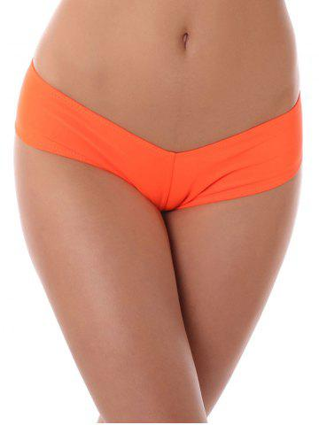 Low Waist Stretchy Panties - Orange - M