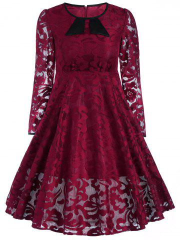 Store Vintage Lace See Thru A Line Dress