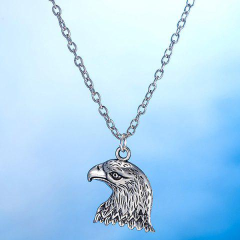 Sale Eagle Head Alloy Necklace and Earrings - SILVER  Mobile