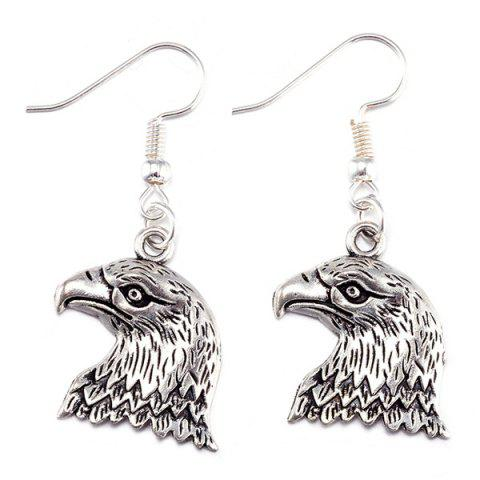 Chic Eagle Head Alloy Necklace and Earrings - SILVER  Mobile