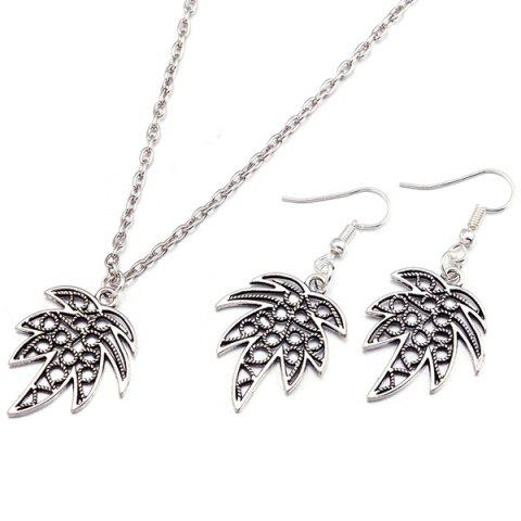 Buy Leaf Pendant Necklace and Earrings