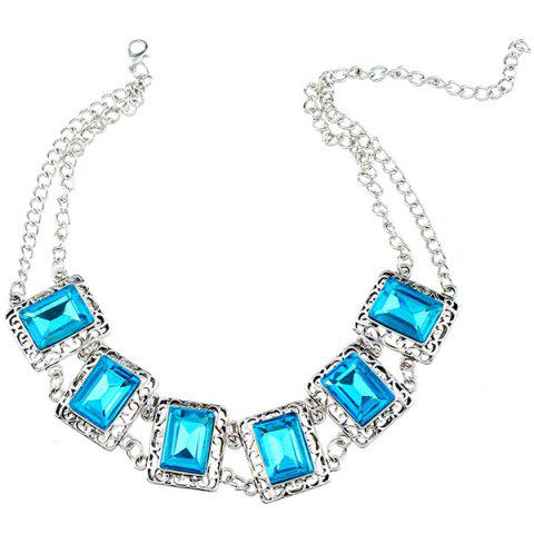 Shop Alloy Fake Gem Necklace