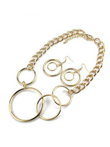 Shops Circles Necklace and Earrings