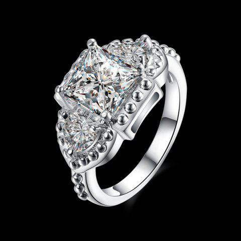 Outfit Artificial Diamond Gemstone Geometric Engagement Ring