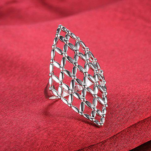 Shops Hollow Out Geometric Ring - 8 SILVER Mobile