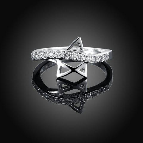Shops Rhinestone Star Ring SILVER 8
