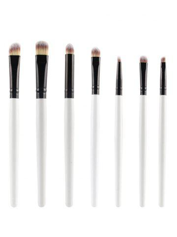 Online 7 Pcs Nylon Eye Makeup Brushes Set WHITE