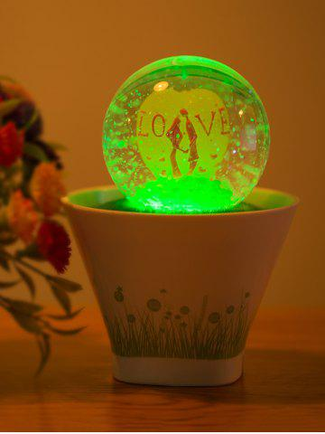 Buy Colorful Lovers USB Glass Ball Bonsai Wedding LED Night Light - White