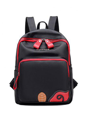 Shops Colour Block Leaf Pattern Nylon Backpack