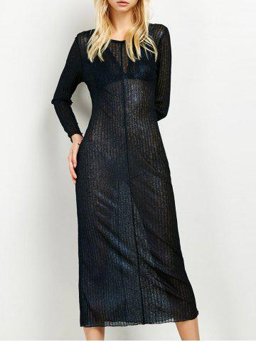 Store Semi Sheer Long Dress