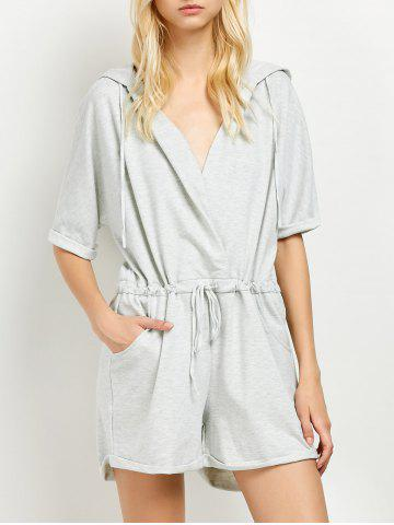 Outfits Hooded Terry Romper