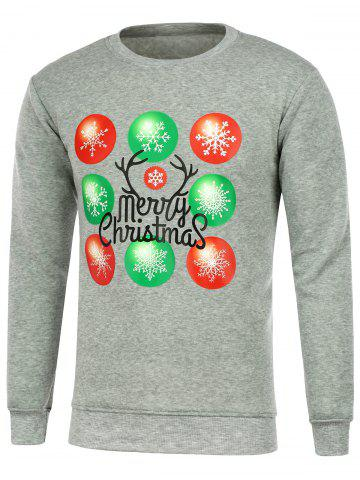 Best Snowflake Print Crew Neck Christmas Sweatshirt