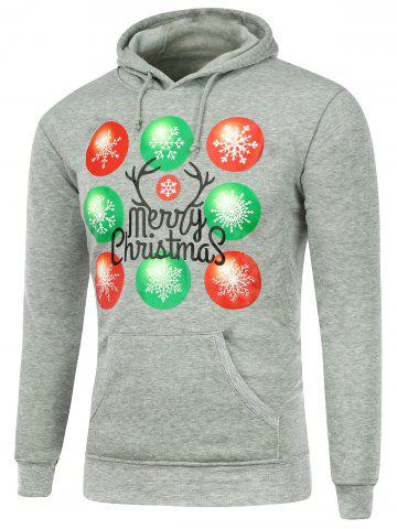 Fashion Snowflake Printed Pocket Christmas Hoodie