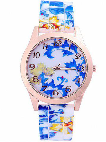 Unique Tree Leaves Printed Silicone Watch