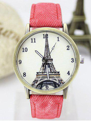 Latest Eiffel Tower Artificial Leather Watch