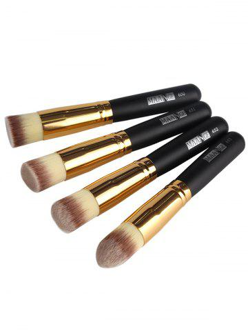 Outfit 4 Pcs Foundation Makeup Brushes Set - BLACK  Mobile