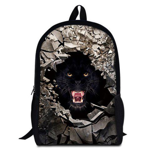 Latest 3D Rubble Animal Print Backpack - BLACK  Mobile