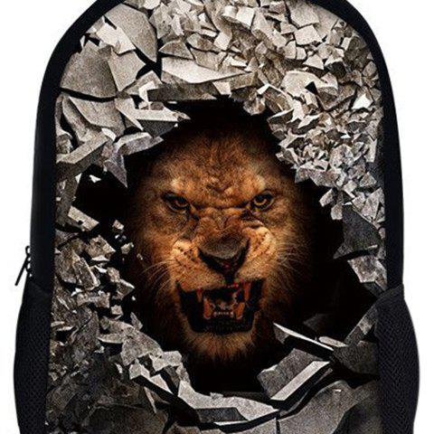 New 3D Rubble Animal Print Backpack - BROWN  Mobile