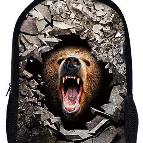 Outfit 3D Rubble Animal Print Backpack - LIGHT BROWN  Mobile