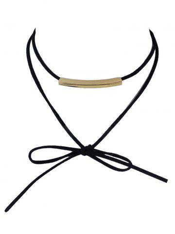 Discount Punk Layered Alloy Necklace BLACK