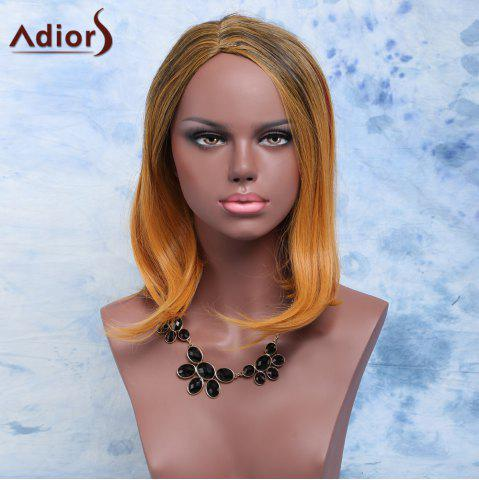 Discount Adiors Short Straight Side Parting Mixed Color Synthetic Hair Wig COLORMIX