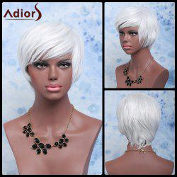 Adiors Shaggy Wavy Short Color Mixed Full Bang Synthetic Wig -